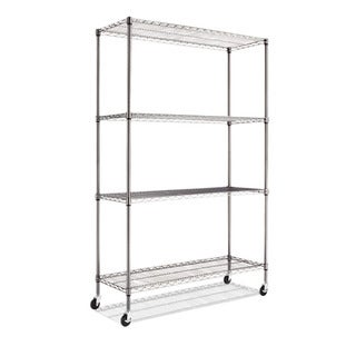 Alera Complete Black Antracite Wire Shelving 4-shelf Unit with Caster|https://ak1.ostkcdn.com/images/products/7527956/P14964892.jpeg?_ostk_perf_=percv&impolicy=medium