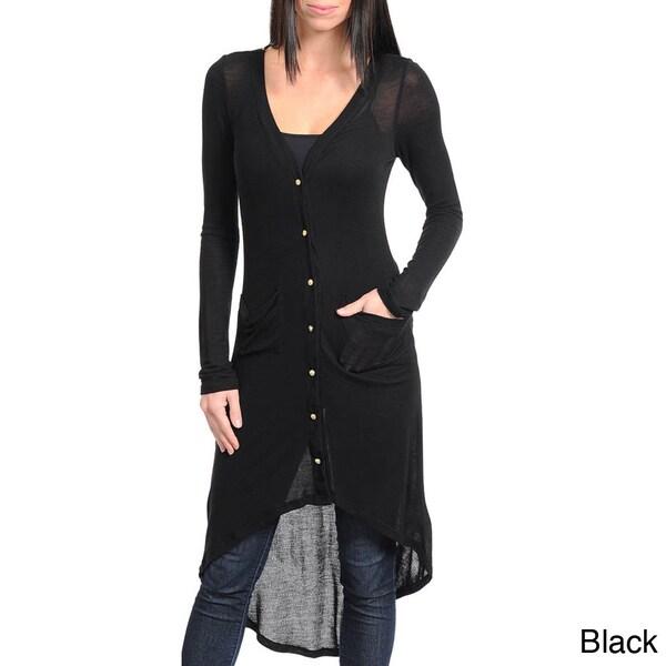 Stanzino Women's Extra Long High-low Cardigan