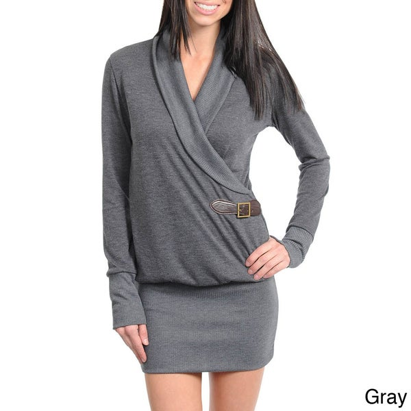 Stanzino Women's Wrap-around Sweater Dress
