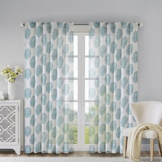 Madison Park Emerson Burn Out Sheer Single Curtain Panel