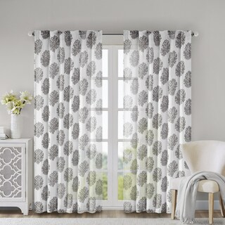 Madison Park Emerson Burn Out Sheer Curtain Panel