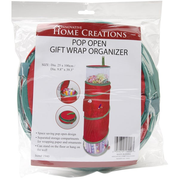 Pop-Open Christmas Gift Wrap Organizer