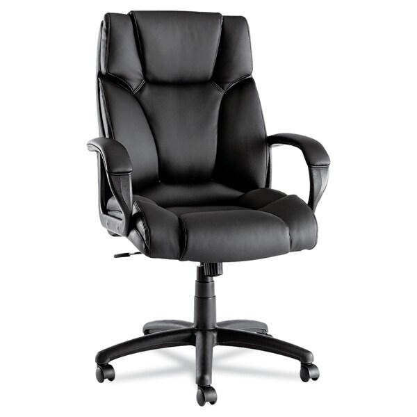 Alera Fraze High-back Swivel / Tilt Black Leather Chair