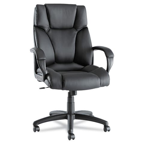 Alera Fraze High-back Swivel / Tilt Black Leather Chair