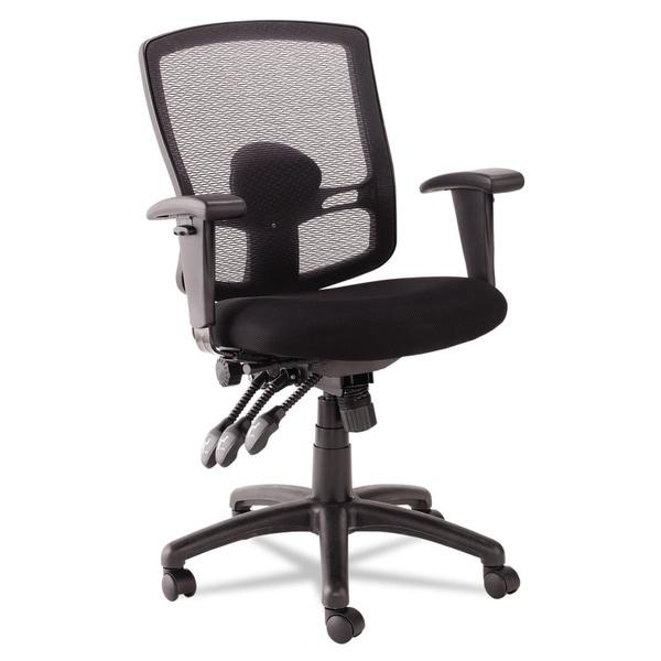 Alera Etros Series Petite Mid-back Multifunction Black Mesh Chair