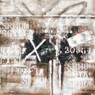 'The X' Gallery Wrapped Hand-Painted Oil Painting