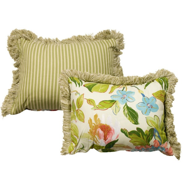 Rose Tree St Croix Decorative Floral Print 11x15-inch Pillow