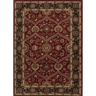 Traditional Red/ Orange Wool Tufted Runner (2'6 x 8')