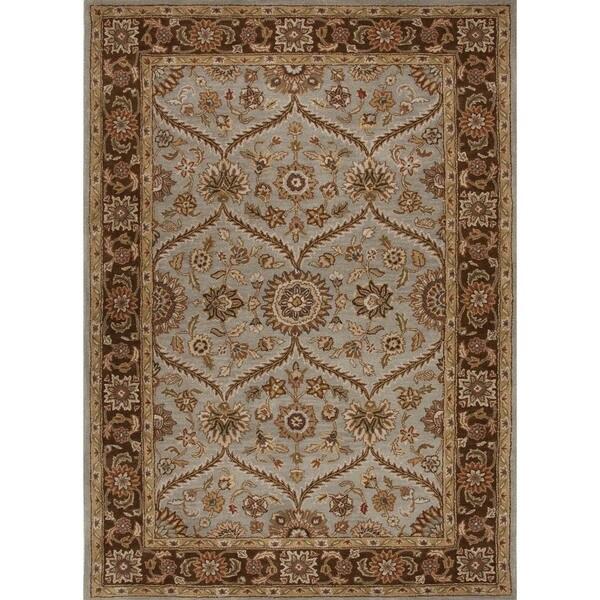 Traditional Oriental Beige/ Brown Wool Tufted Rug (8' x 11')