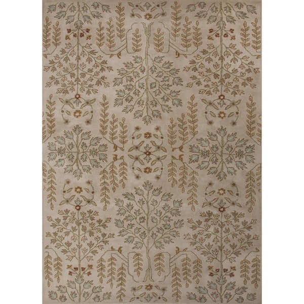 Hand-tufted Transitional Gold/ Yellow Wool Rug (8' x 11')
