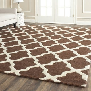 Safavieh Handmade Moroccan Cambridge Brown Wool Rug