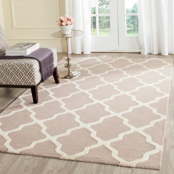 Safavieh Handmade Moroccan Cambridge Beige Cream Wool Rug