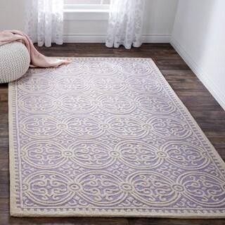 Safavieh Handmade Moroccan Cambridge Lavender Wool Rug