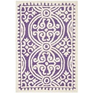 Safavieh Handmade Cambridge Myrtis Modern Moroccan Wool Rug (3 x 5 - Purple/Ivory)