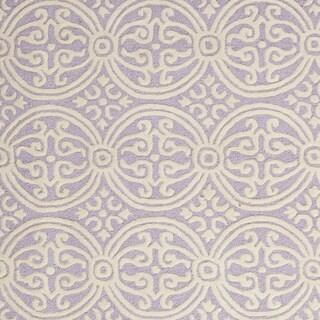 Safavieh Handmade Cambridge Myrtis Modern Moroccan Wool Rug (6 x 6 Round - Lavender/Ivory)