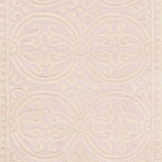 Safavieh Handmade Cambridge Myrtis Modern Moroccan Wool Rug (6 x 9 - Light Pink/Ivory)