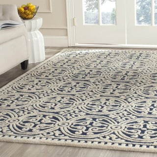 Safavieh Handmade Moroccan Cambridge Navy Blue Wool Rug