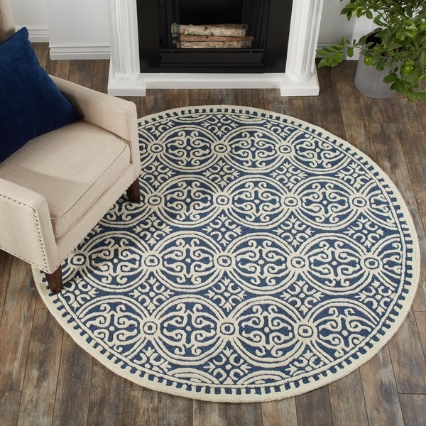 Safavieh Handmade Moroccan Cambridge Navy Blue Wool Rug