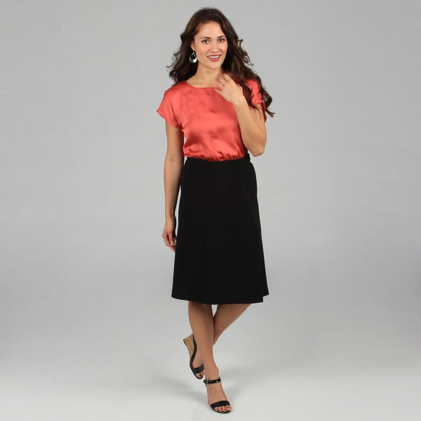 Celebrating Grace Women's Black A-line Skirt