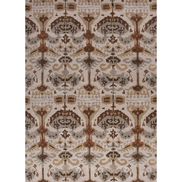 Hand-tufted Transitional Beige Wool Rug (9'6 x 13'6)