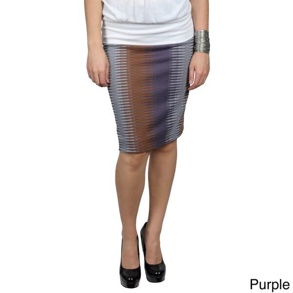Tressa Designs Women's Stretchy Print Pattern Pencil Skirt