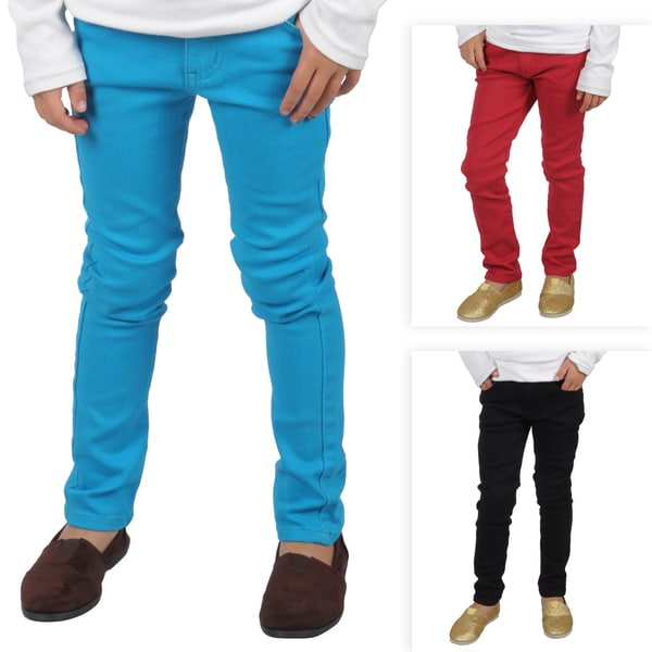 Hailey Jeans Co. Girl's Stretchy Colored Skinny Jeans