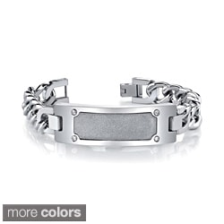 Stainless Steel Men's Cubic Zirconia Bracelet By Ever One