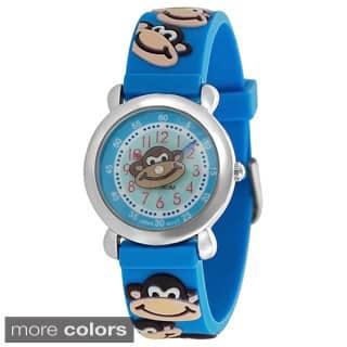 Geneva Platinum Kid's Monkey Design Silicone Watch https://ak1.ostkcdn.com/images/products/7531360/P14967835.jpg?impolicy=medium