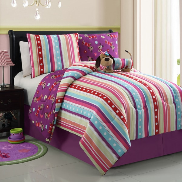 VCNY Poodle Reversible 4-piece Comforter Set