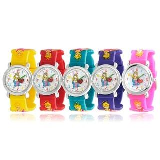Geneva Platinum Kid's Princess Design Silicone Watch