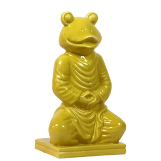 Urban Trends Collection 15-inch Yellow Ceramic Frog