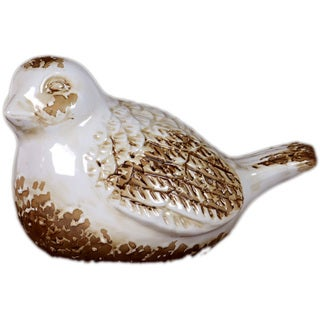 Urban Trends Collection Antique White Ceramic Bird