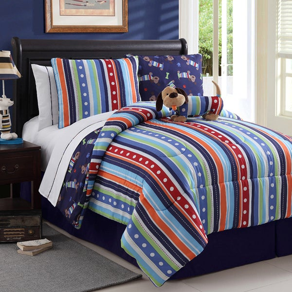 VCNY Dog Reversible 4-piece Comforter Set