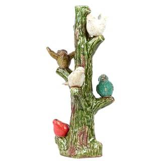 Urban Trends Collection Ceramic Birds On Tree