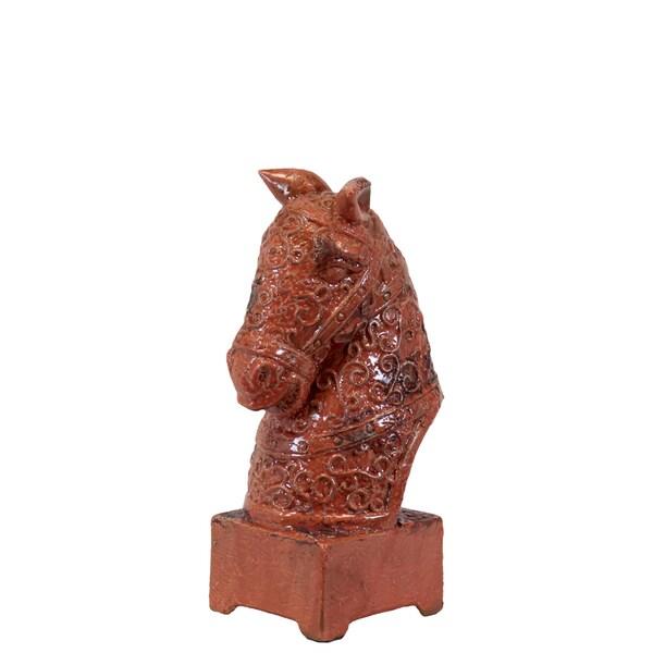Urban Trends Collection Orange Antique Ceramic Horse Head