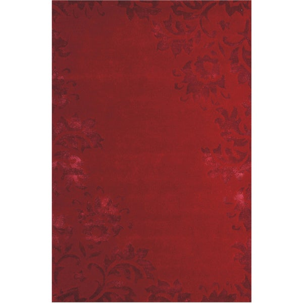 Jovi Home 'Rosewood' Red Hand-tufted Rug (4 X 6)