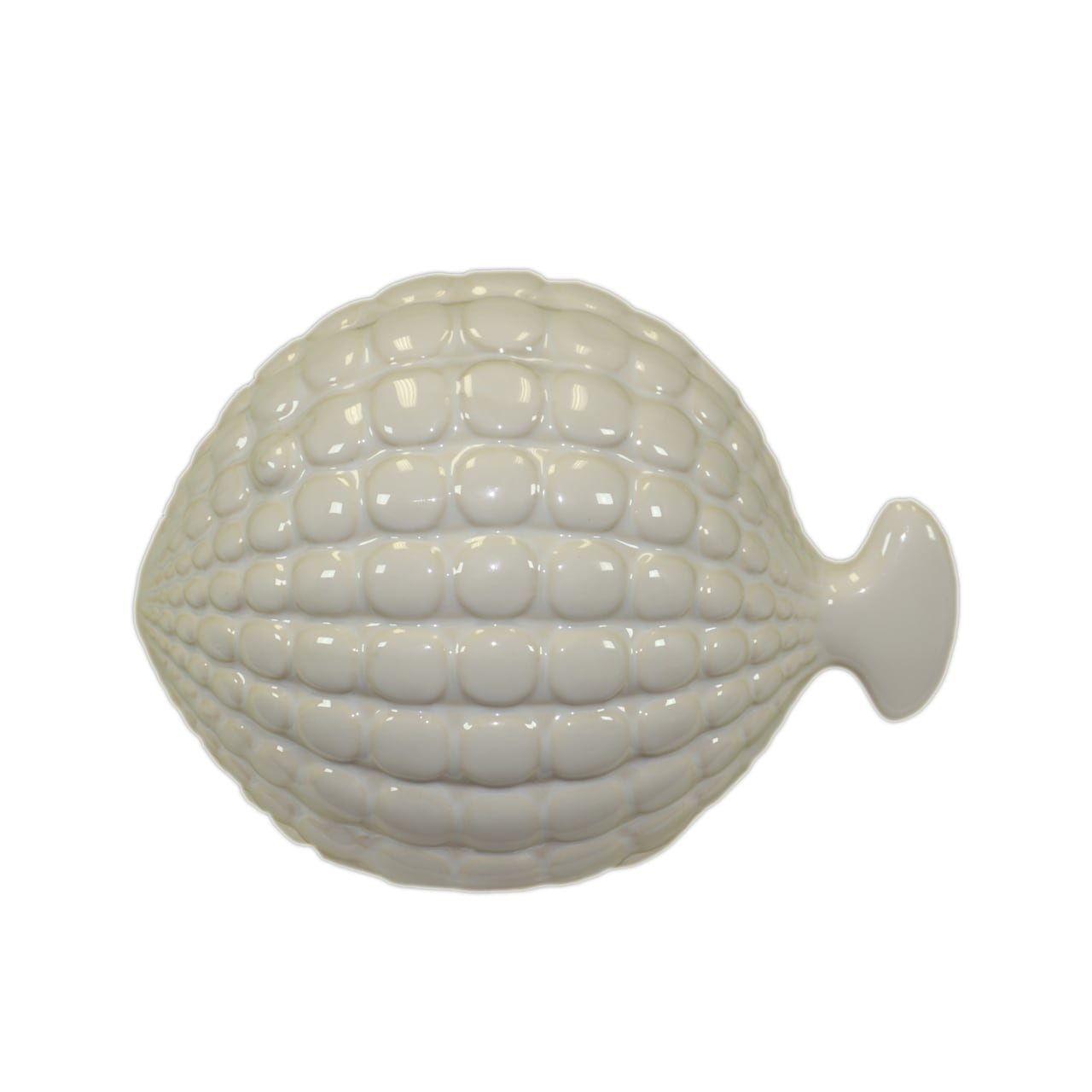 Urban Trends Collection Small White Ceramic Fish (CeramicFinish WhiteDimensions 6.5 inches high x 9 inches wide x 5 inches deep UPC 877101720218For Decorative Purposes OnlyDoes Not Hold Water)