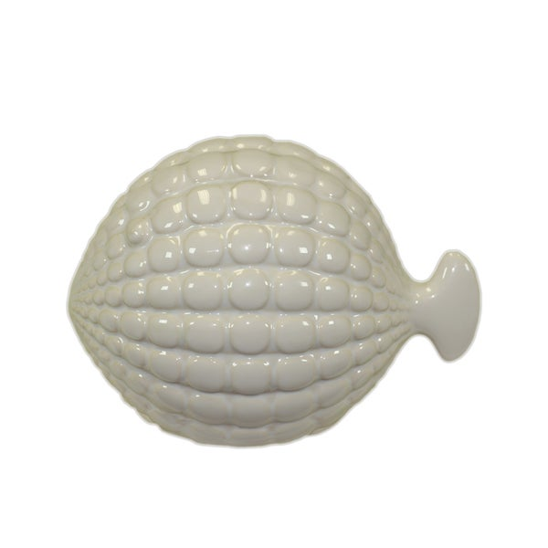 Urban Trends Collection Small White Ceramic Fish Urban Trends Collection Accent Pieces