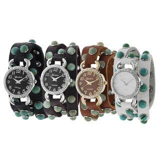 Geneva Platinum Rhinestone Wrap Watch