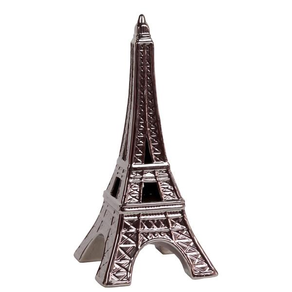 Silver Ceramic Eiffel Tower