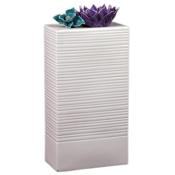 Antique-Style White Ceramic Vase