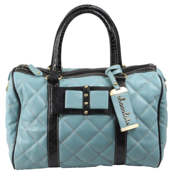 Journee Collection Women's Chocolate Quilted Stud Detail Satchel