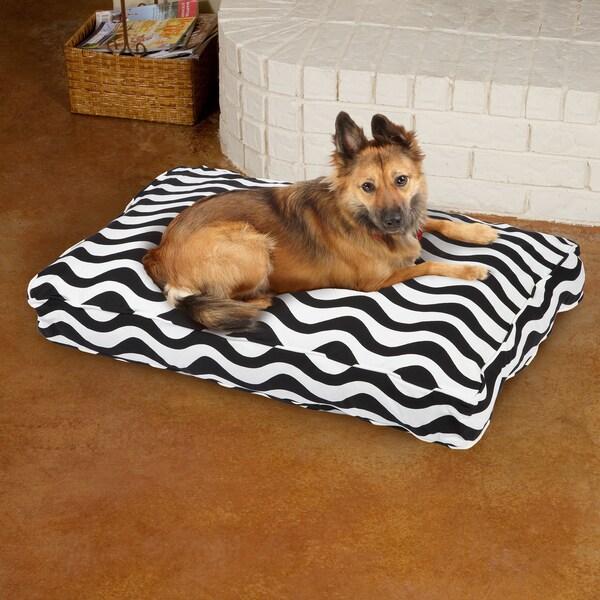 Sweet Dreams Black/ White Stripe Corded Pet Bed