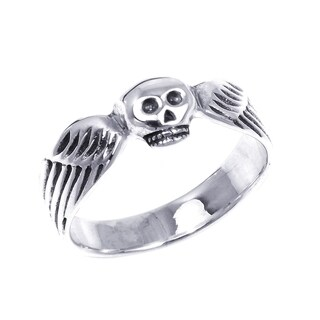 Handmade Funky Skull Wing Wrap .925 Sterling Silver Ring (Thailand)