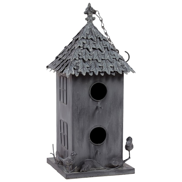Urban Trends Collection Decorative Metal Bird House Free