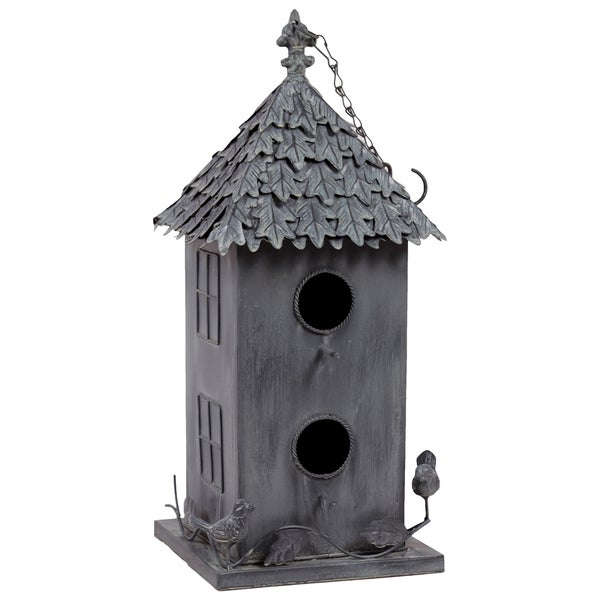 Urban Trends Collection Decorative Metal Bird House