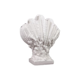 Urban Trends Collection White Ceramic Seashell