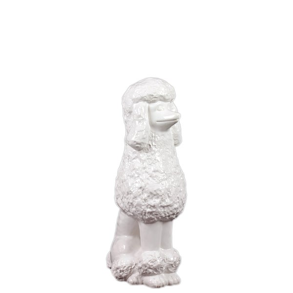 Urban Trends Collection Antique White Ceramic Poodle