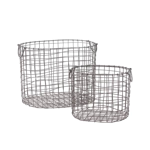Urban Trends Collection Metal Container (Set of 2)