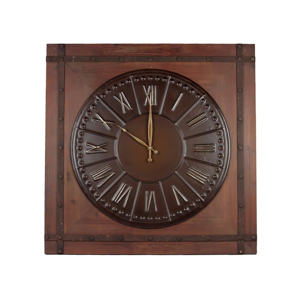 Urban Trends Collection 31-inch Wooden / Metal Clock